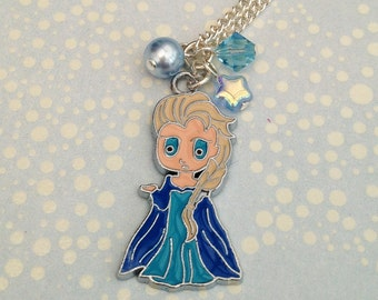 Frozen Queen Elsa Charm Necklace