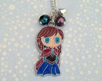 Frozen Princess Anna Charm Necklace