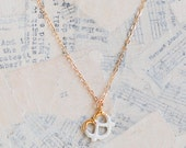 Tiny Gold Pretzel Necklace14K Gold Whimsical Chef Baker Carnival Charm