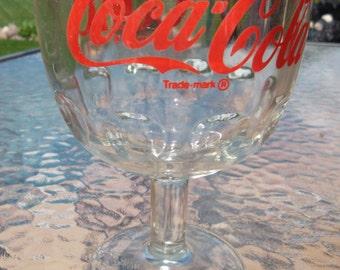 Vintage Coke Coca-Cola Goblet  Advertising Glass