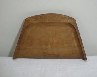 Vintage Carved Wooden Crumb Catcher