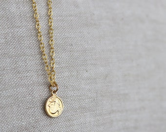 CLOSING SALE Capricorn Tiny Zodiac Necklace / Choose Your Length