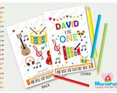 6 Music Coloring Books, Party Personalized Coloring Books, Party Favors  A1190