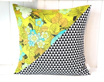 Pillow Cover, 20x20, half and half