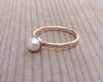 Pearl Ring,Birthstone Ring,Minimalist Ring,Gold Ring,Gemstones Ring,Stacking Rings, Ring,Multistone Ring, Statement Rings, Modern Geometric