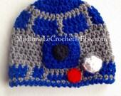 Droid Robot crochet hat