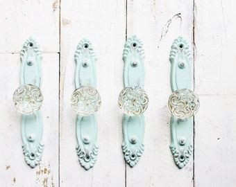 Glass Knobs, Metal Handles,Kitchen Pull, Cabinet Knobs,Iron Home Decor,In Palm Desert Oasis,Seafoam Green,Shabby Living Room,Spring Pastels