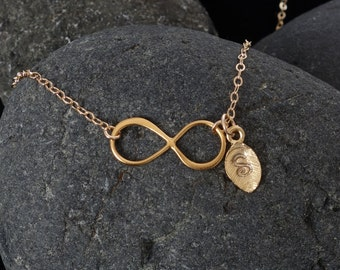 Initial Necklace Gold Infinity Graduation Gift Bridesmaid Gift Wedding Jewelry Personalized Sisters Necklace Friendship Bridal