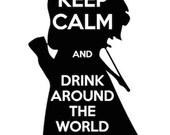 Drink Around the World- Tshirt design Merida