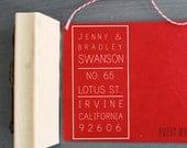 "Custom Standing Brick Return Address Rubber Stamp 1.5"" x 3"" OR 2"" x 4"""