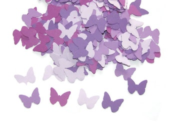 100 Spring Butterflies in Shades of Purple-Punch Cut Embellishments,  Confetti, Weddings Scrapbooking