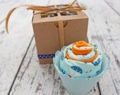Baby Boy Gift Burp Cloth Cupcake, Boy Baby Shower Gift, Baby Boy Gift Set, Football, Baseball, Sailboats, Owls, Tanks, Airplanes