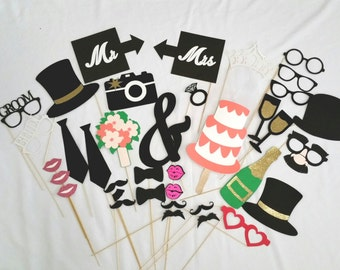 Wedding Photo Booth Props 40 pc