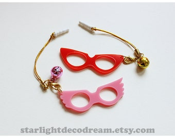 Cardcaptor Sakura Movie Masquerade Mask Phone Strap Inspired Phone Strap for Mahou Kei, Magical Girl Fashion