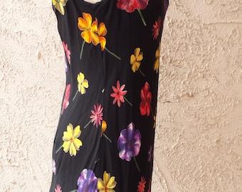 Cache Floral A-Line Dress