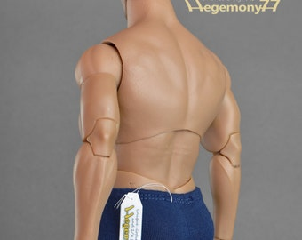 1/6th scale XXL blue boxer briefs underwear for: Hot Toys TTM 20 size bigger male action figures and fashion dolls