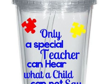 Autism Teacher Tumbler