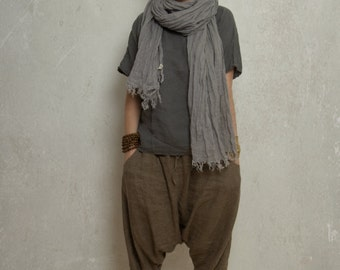 LINEN HAREM pants / trousers / yoga pants