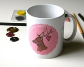Deer Mug Cute Mug Woodland Mug Tea Lover Mug
