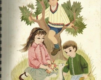 1960's Bernat Book 103 Retro Kids Fashion Sweaters