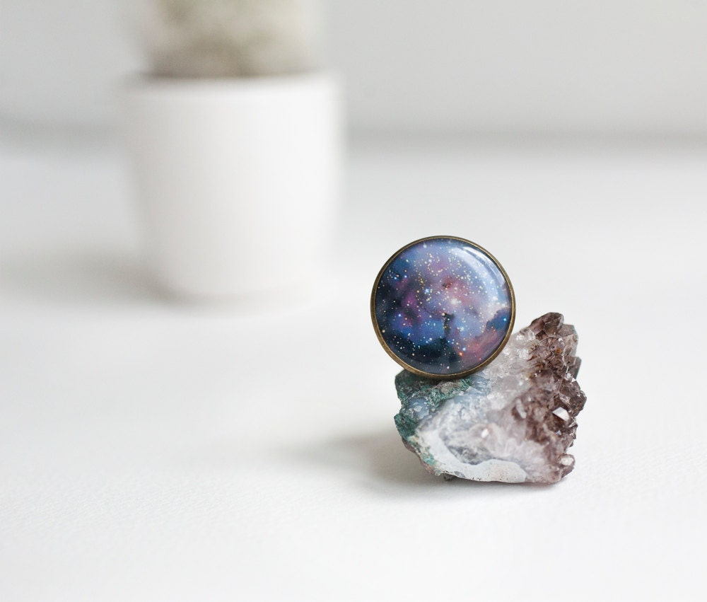 space jewelry space ring solar system universe ring by