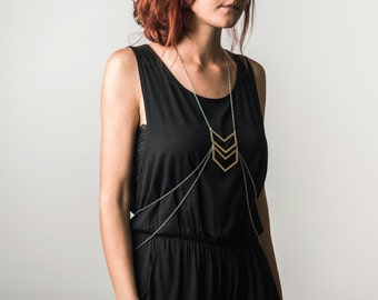Open Chevron Body Chain