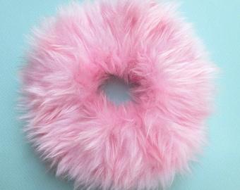 Scrunchies, Clueless, Fuzzy Pink Fur Scrunchie, Pastel Grunge, Britney Spears, Fluffy Hair, Pastel Goth, Scrunchy Hair Tie Hair Fluffies