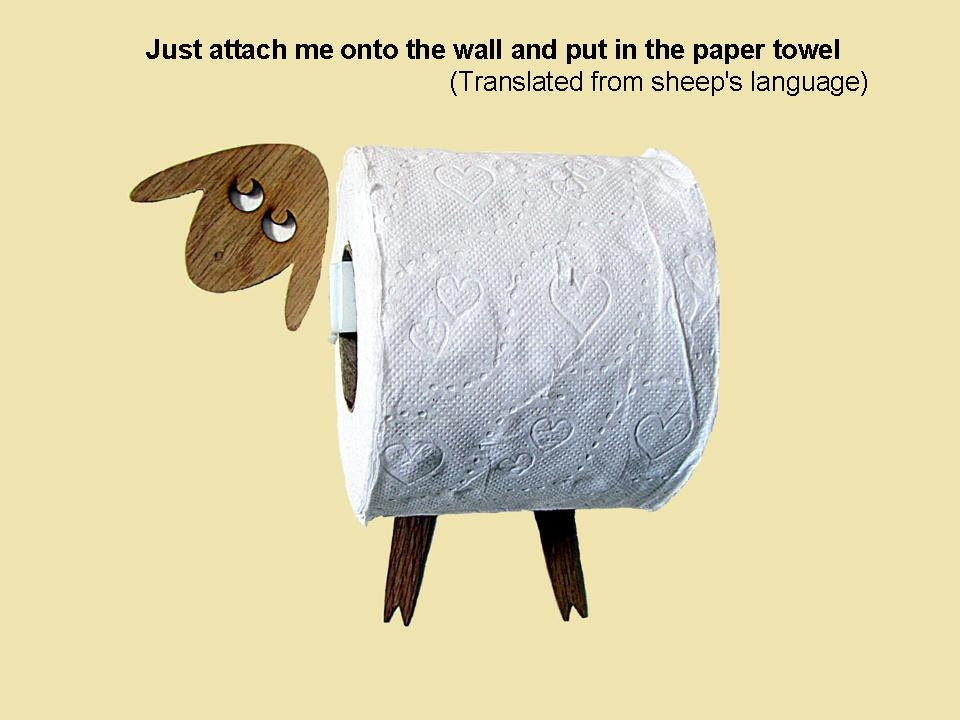 Sheep toilet roll holder tissue holder funny wall decal Funny toilet paper holders