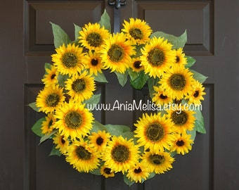 summer wreath fall wreath sunflowers outdoor wreaths for front door wreaths decorations home and living gift ideas