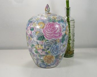 20% OFF SALE 2/20 from 49: Japanese Hand Painted Porcelain/Pottery Vase with Lid