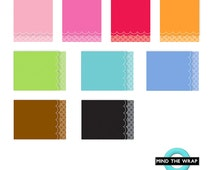 A2 Scallop Edge Cards with Fancy Envelopes Set - 9 Different Colors - 18 pcs Boxed - Great Assortment for Card-makers - Doodlebug Design
