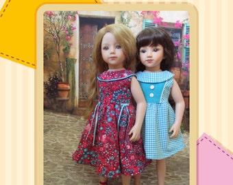Pattern: Dress with round collar for Maru and Friends, Götz dolls.