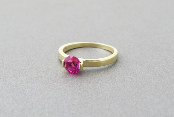 engagement ring simple classic engagement ring pink