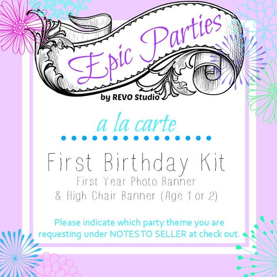 Printable First Birthday Kit