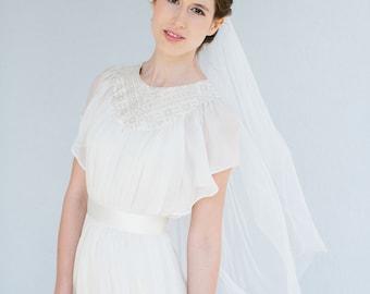 Bridal wedding veil fingertip length  - Emma