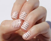 Petal Pink & Gold Stripe Nail Wraps