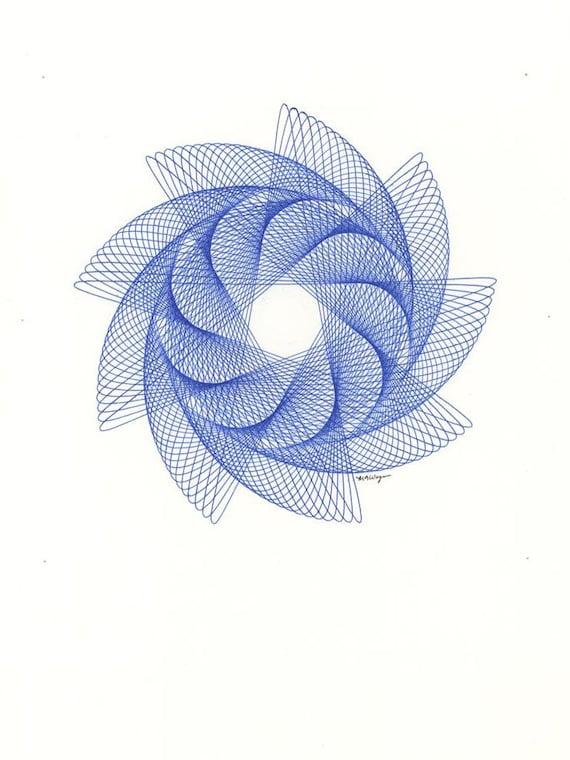 Line Art Nautilus : Nautilus spiral line drawing original ink
