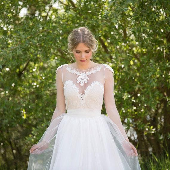 Sale 30 off noemi unique wedding dress boho vintage inspired for Kelly clarkson wedding dress replica