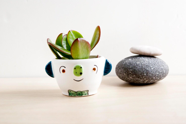 Ceramic Planter With Face Ceramic Plant Pot For Succulent
