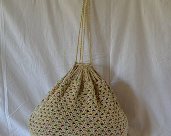 Roomy Cotton Tote Bag with Drawstring Handles