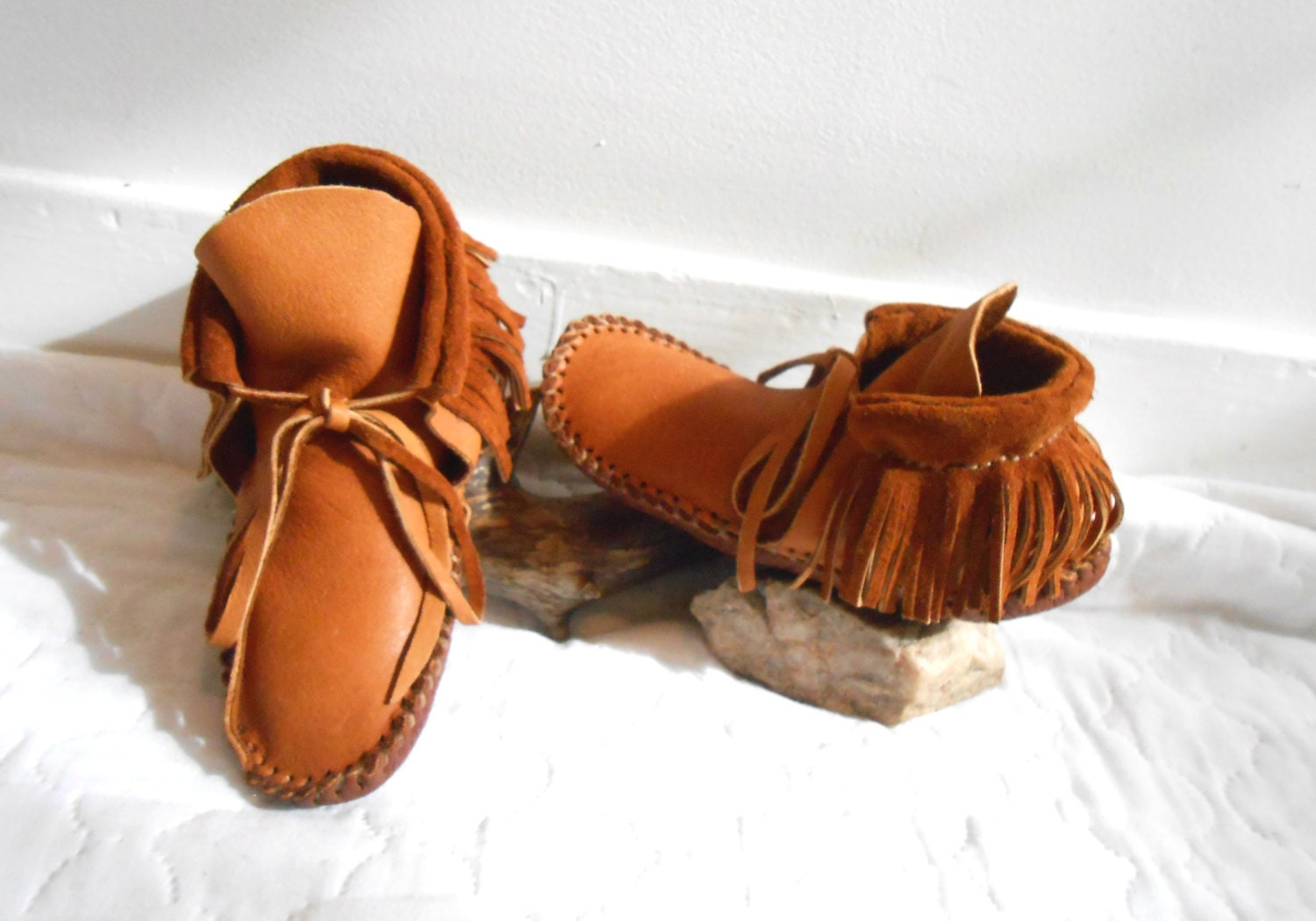 handmade indian moccasins handmade moccasins mocs with fringe by 8854