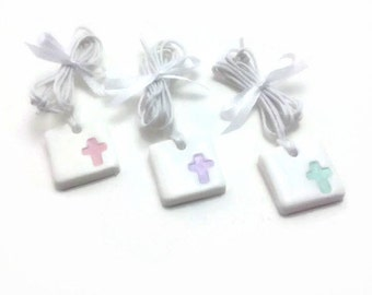 Christening Favors, Baptism Favors, Cross Charms, Witness Pins, Adjustable Pendants, Martyrika, Necklace Favors,  Packs of 20, 40 and 60