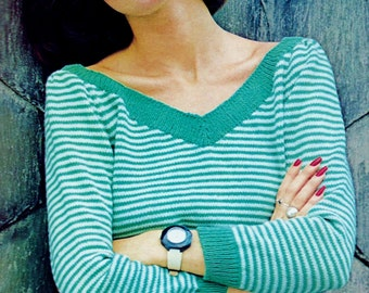 Women's Sweater Vintage Knitting Pattern Download