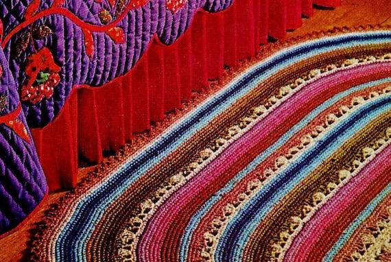 Large Oval Rug Crochet Pattern Download