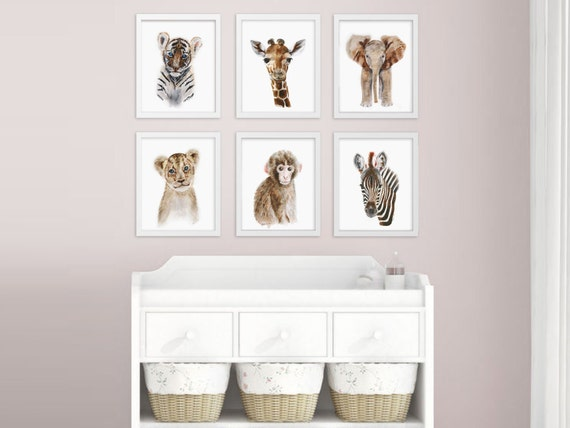 Baby Animal Prints Safari Nursery Art Print Set Jungle