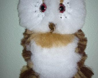 Owl wall decor, macrame. Fluffy Varigated