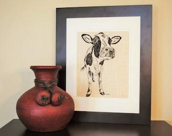 Brown Cow Print Etsy