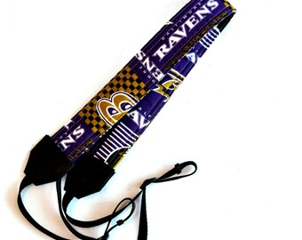 Baltimore Ravens dSLR Camera Strap! This is NOT a camera strap cover! Full Strap with Buckles! Standard Size!