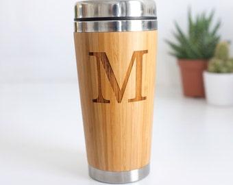 Travel Mug, Initials Mug, Personalised Travel Mug, Custom Coffee Mug, Mug With Initial, Coffee Lover Gift, Personalised Initial Travel Mug