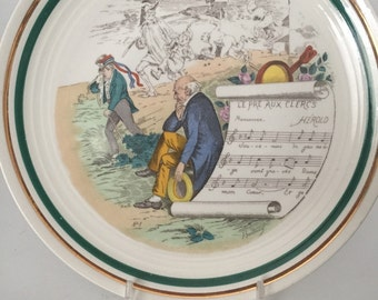 Vintage Perry Vielle 'French Opera' Porcelain Plate - VL Team